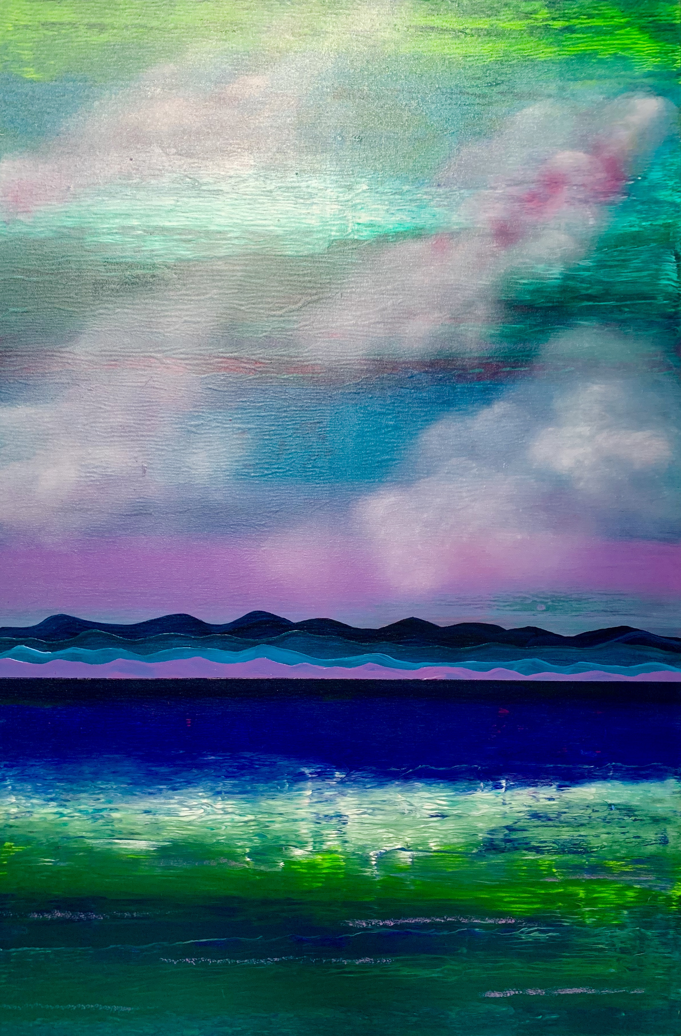 """Water. Mountains. Cloud. Violet 2"""