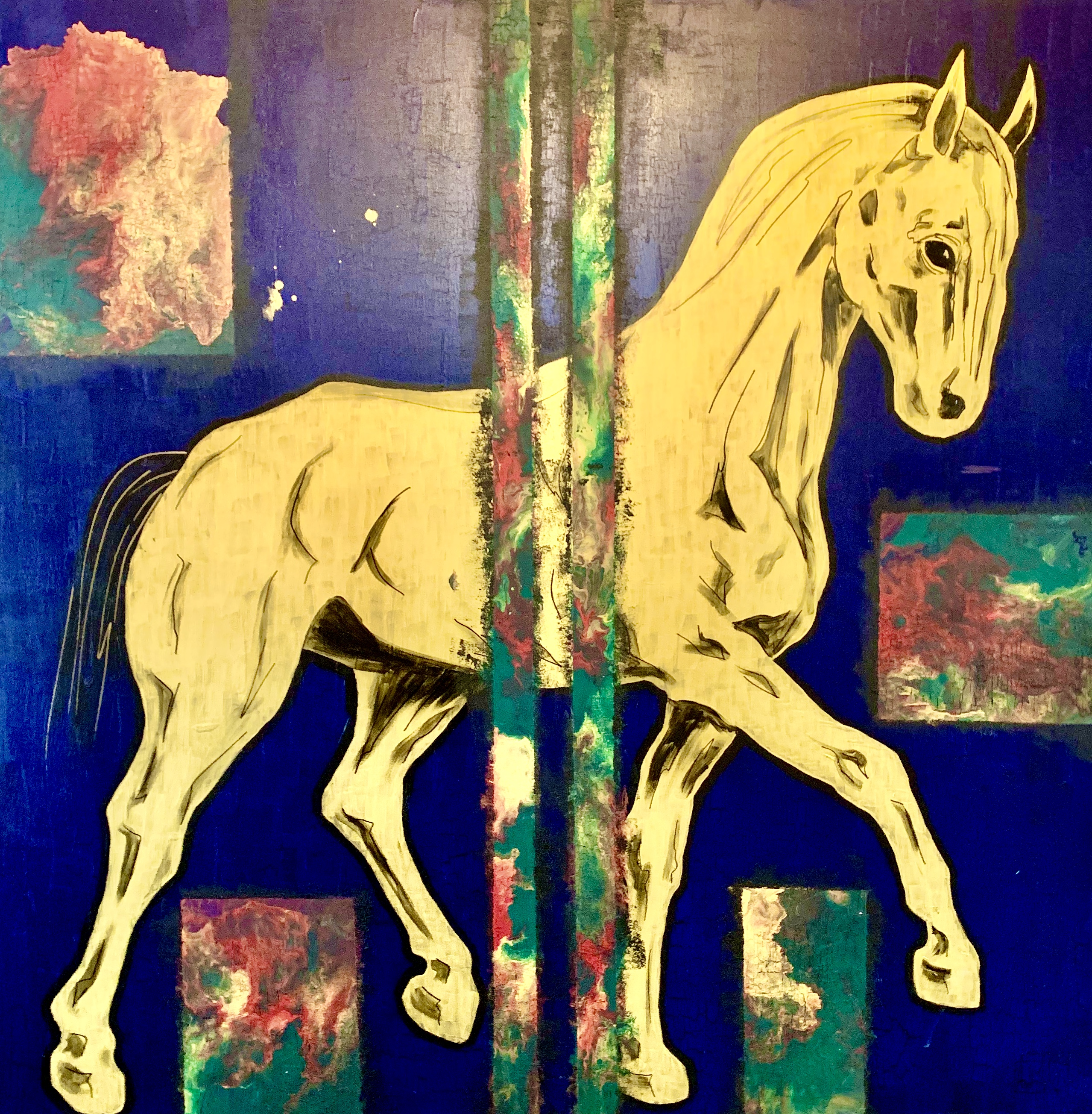 """The horse. Palette. Gold"""