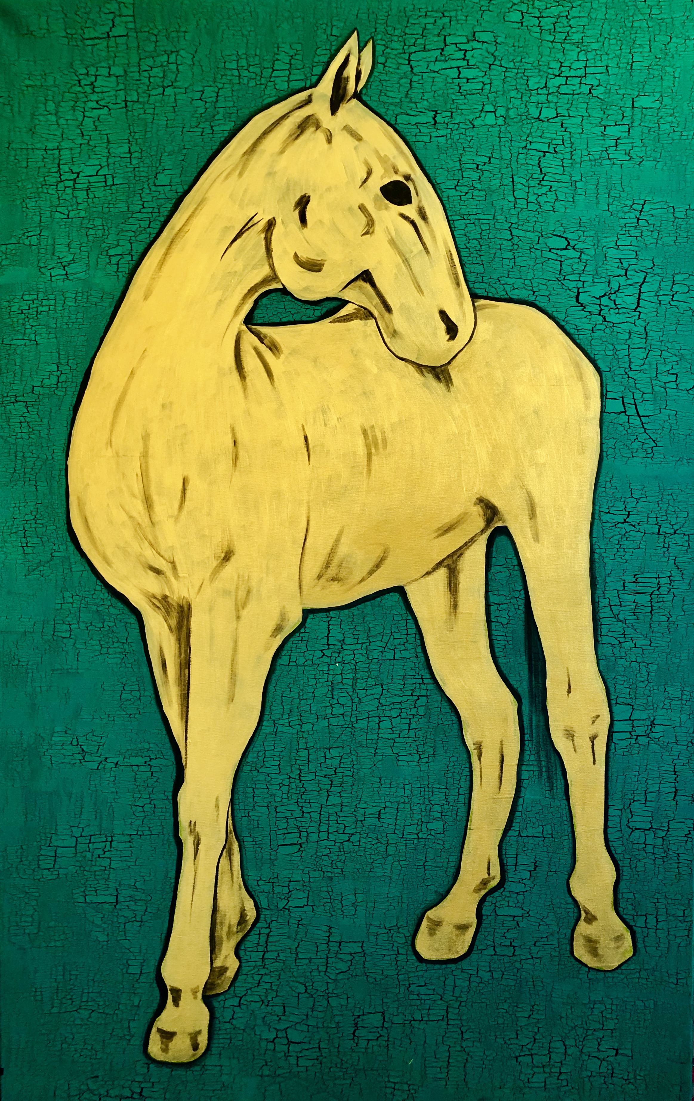 """The horse. Gold"""