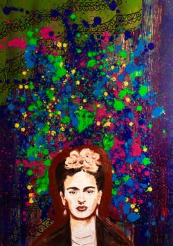 """Portrait of artist Frida Kahlo"""