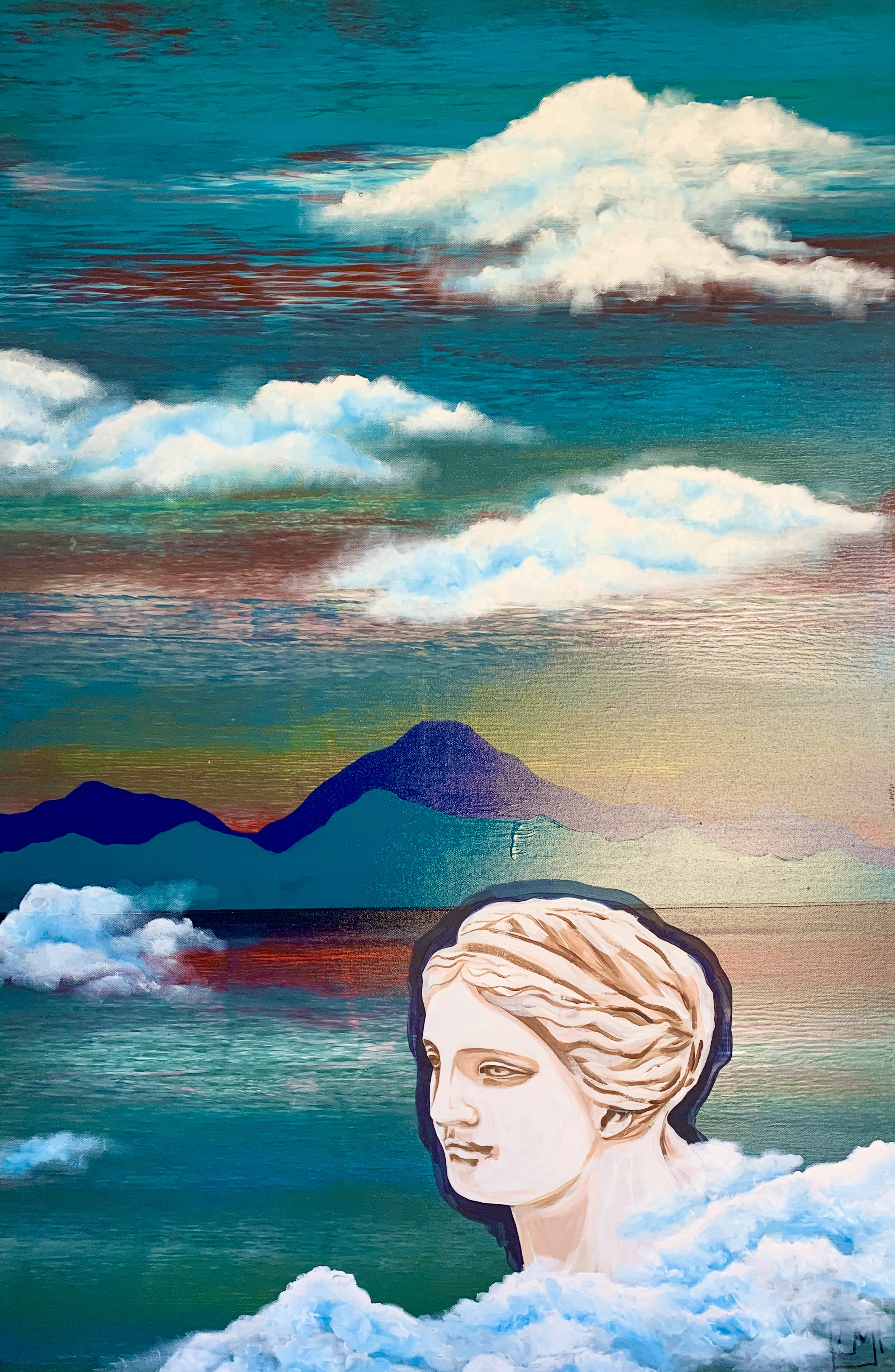 """Woman. Water. Mountains. Venus"" 2 part of diptych"