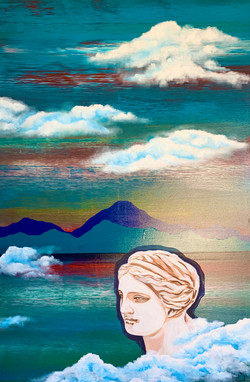 """""""Woman. Water. Mountains. Venus"""" 2 part of diptych"""