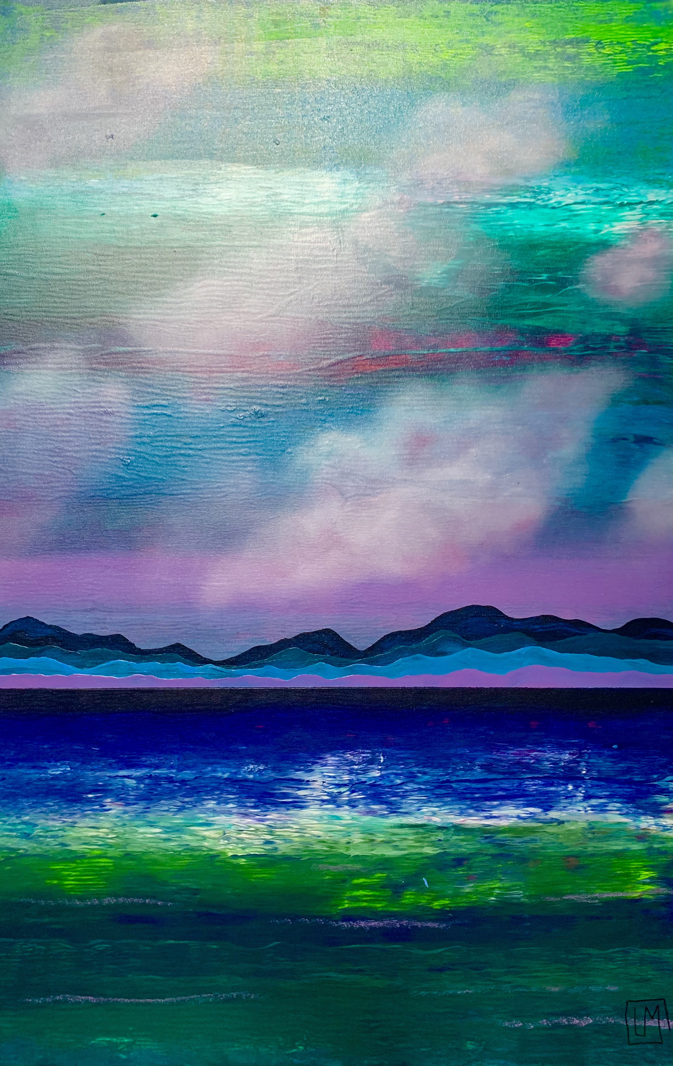 """Water. Mountains. Cloud. Violet 1"""