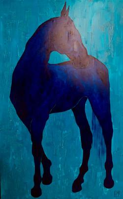 """Horse. Blue"""
