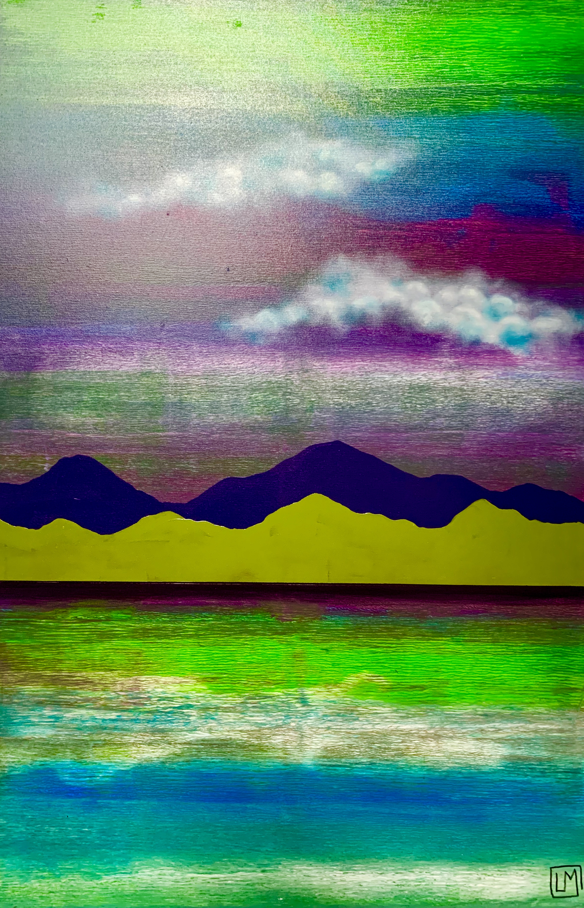 """Water. Mountains. Cloud. Green 2"""