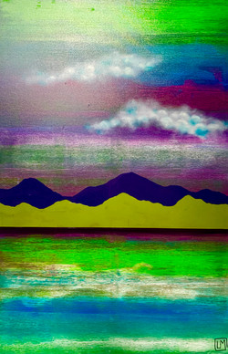 """Water. Mountains. Cloud. Green 2"""