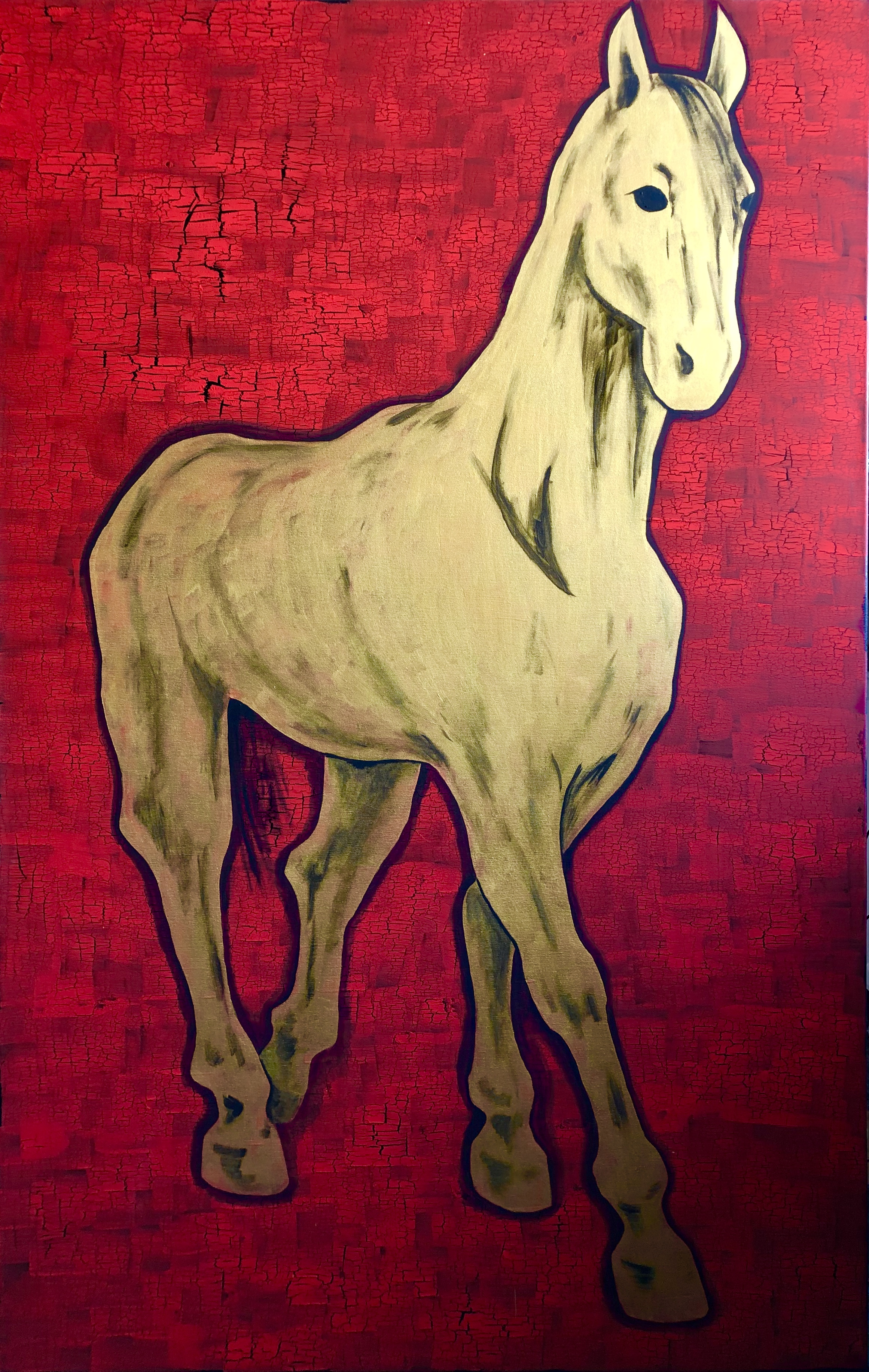"""The horse. Red. Gold"""