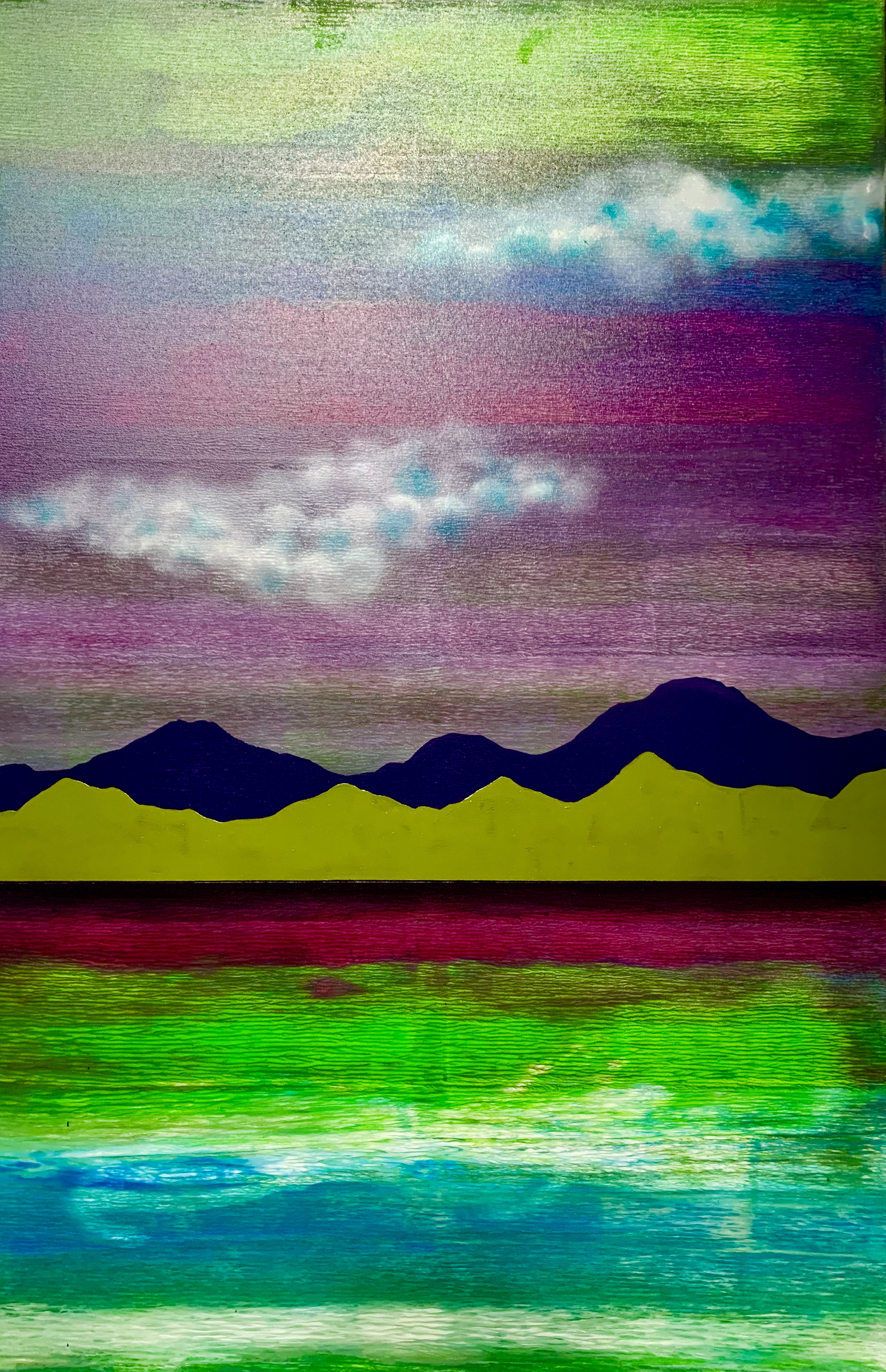 """Water. Mountains. Cloud. Green 1"""