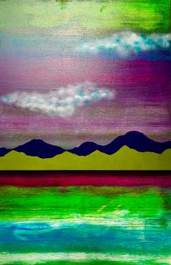 """Water. Mountains. Cloud. Green 1"""