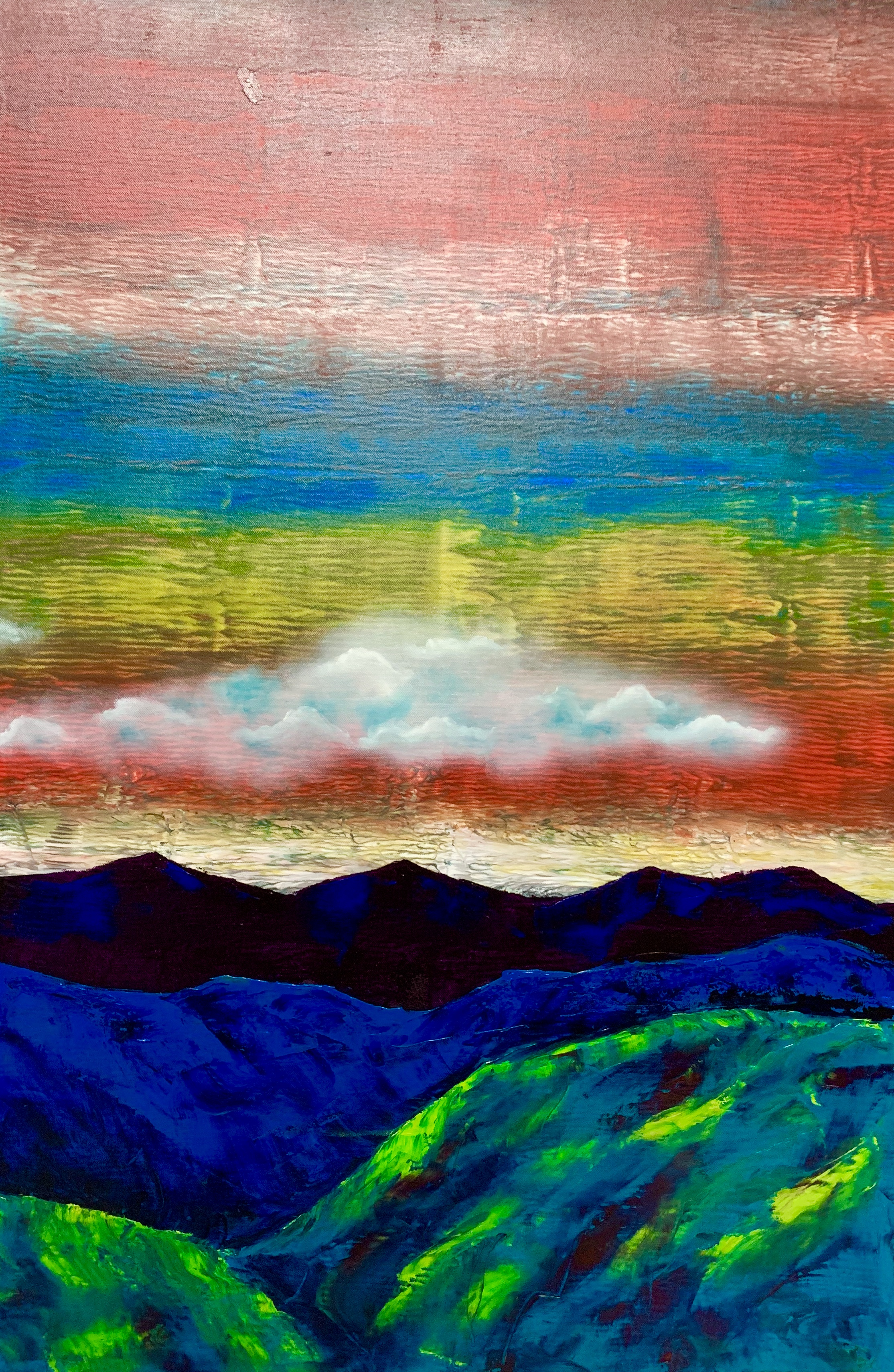 """Mountains. Cloud. Green 1"""