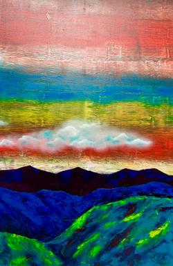 """Mountains. Cloud. Green 1"""