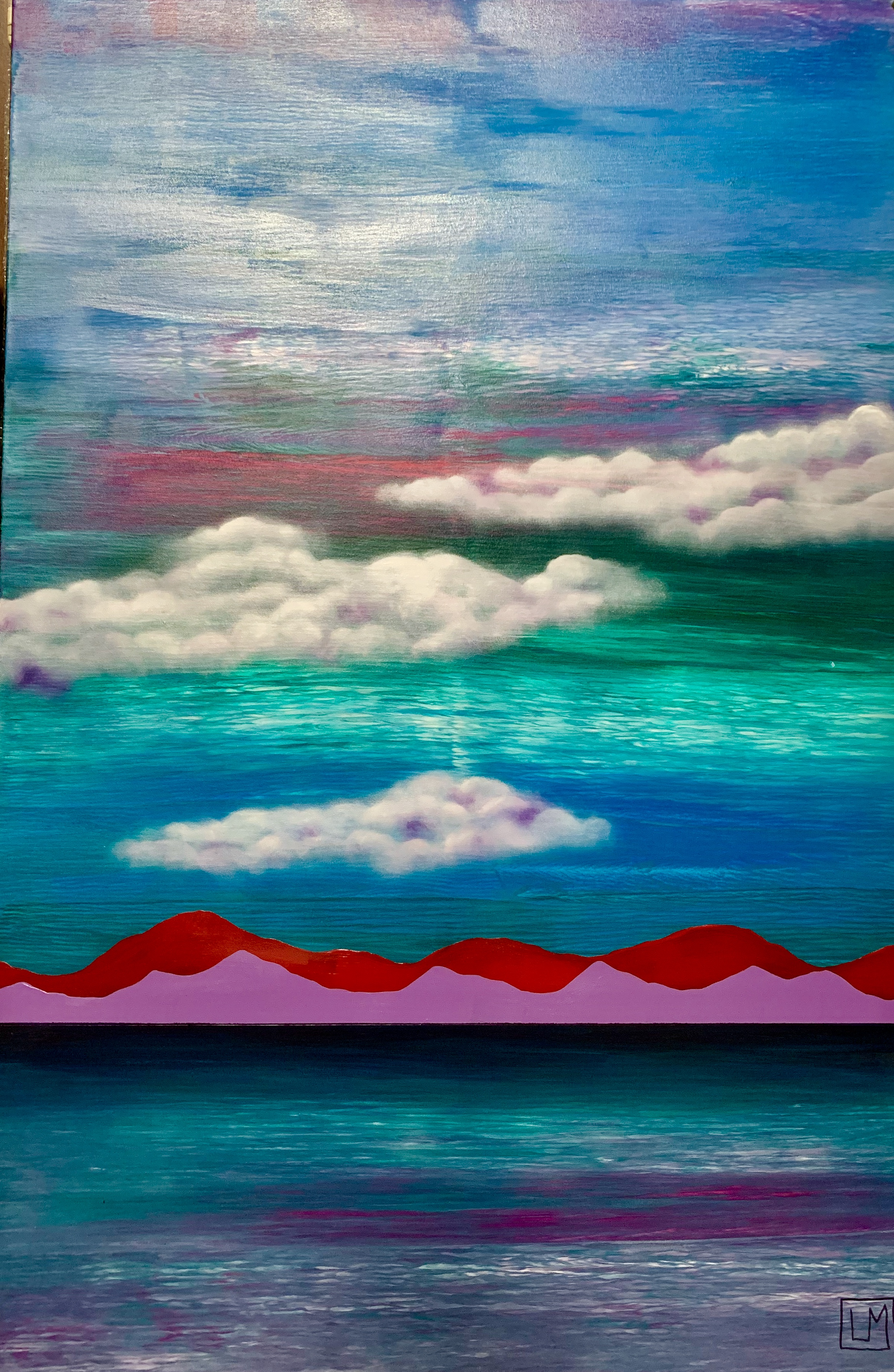 """Water. Mountains. Clouds"""