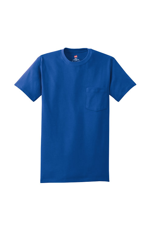 Hanes Tagless® Short Sleeve Pocket T-Shirt