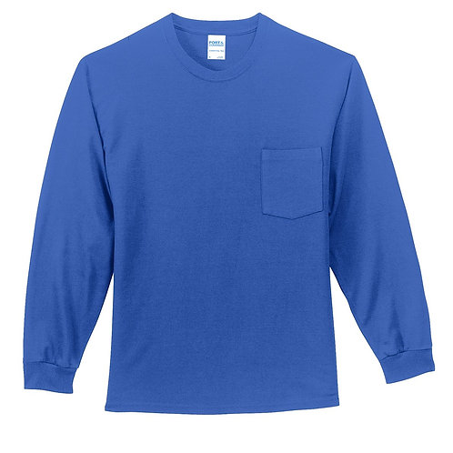 PC61LSPT Port & Company® Tall Long Sleeve Essential Pocket Tee