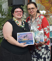 Maree Tambasco-Roche was awarded the 'ADEC award' for her painting 'Fly Free'. Her painting was also used for our marketing of the exhibition.