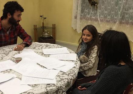 Alaa Zubaydi, Sameera Asir, Leila Ziyad, cast of Roof Knocking, short film