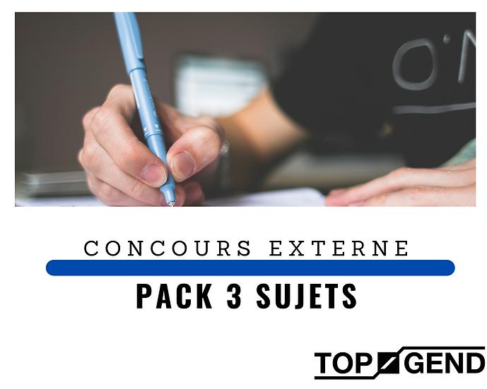 PACK 3 DEVOIRS. Concours EXTERNE