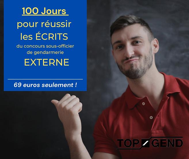 100 JOURS pour réussir le concours SOG EXTERNE