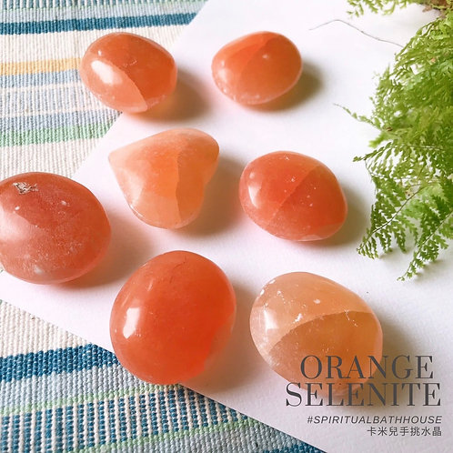 橘色透石膏│ORANGE SELENITE