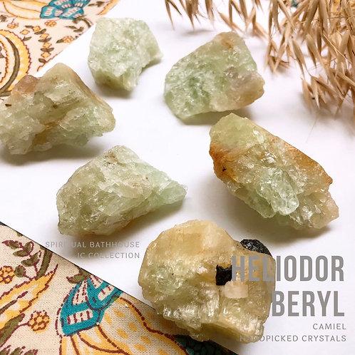 綠柱石+黃金綠柱石│BERYL + HEILODOR