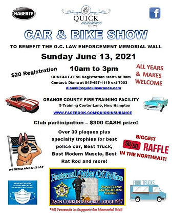 FOP Car and Bike Show Sunday June 13 202