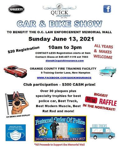 FOP Car and Bike Show Sunday June 13 202