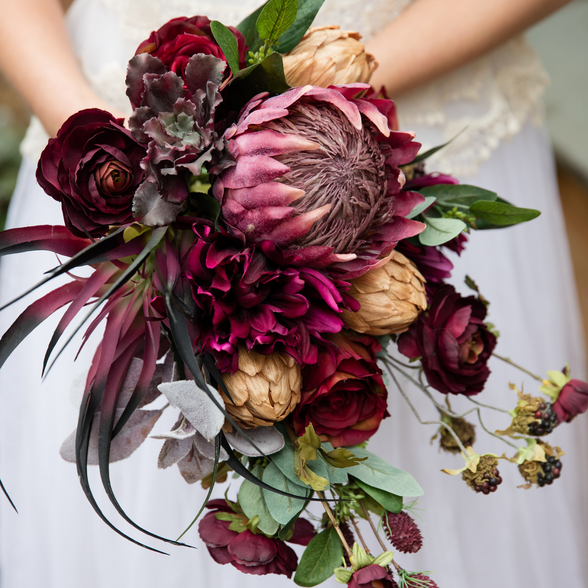 trailing marsala artificial bouquet