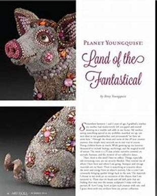 """""""Planet Youngquist Land of the Fantastical"""" Art Doll Quarterly Summer 2014.jpeg"""