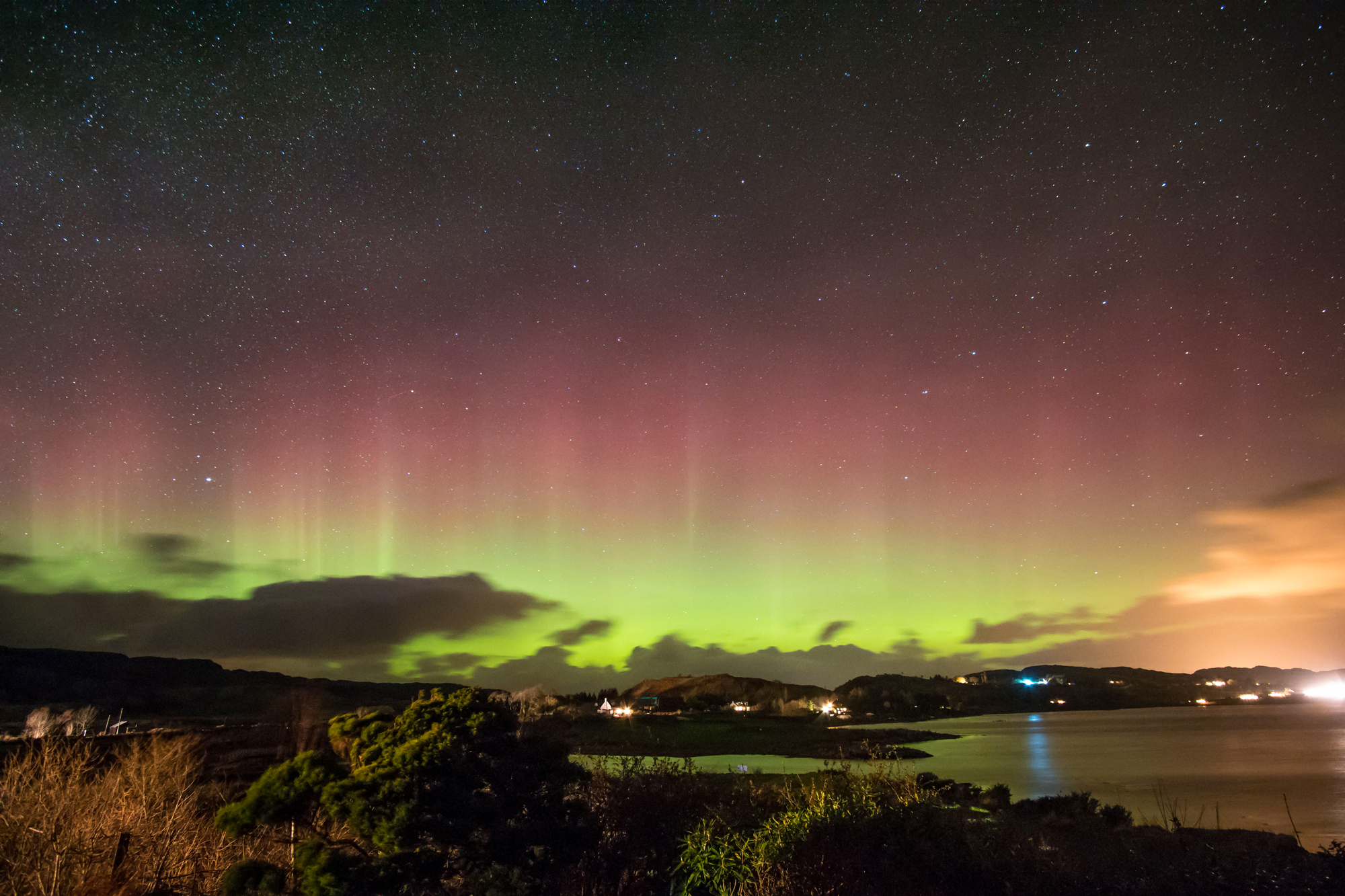 Aurora over Balvicar Bay