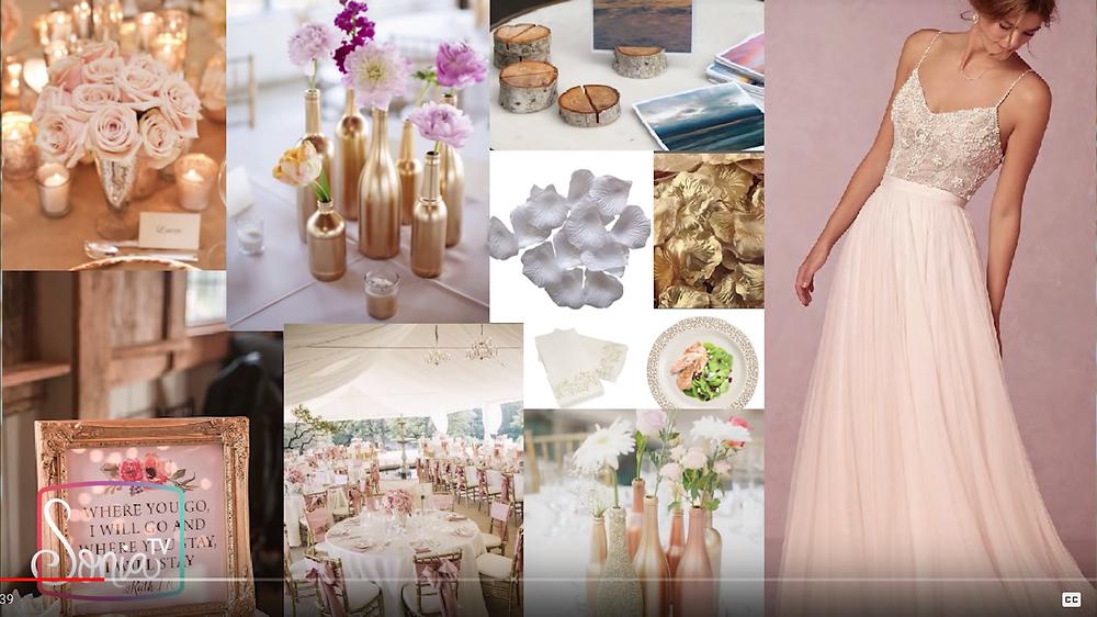 moodboard tablero ideas para decorar boda vintage tu misma