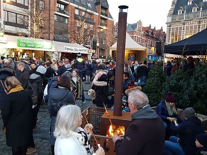 Woodchuck S tuinkachel op de Kerstmarkt in Leuven 2019