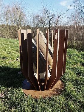 Woodchuck V medium - strakke design vuurkorf in midden formaat