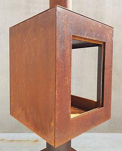 Woodchuck S tuinkachel met glazen deur - blind zijpaneel en glazen zijpaneel