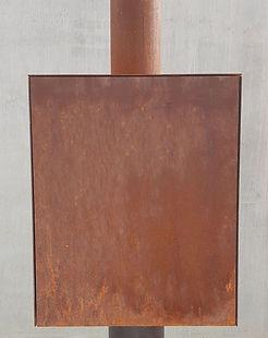 Terraskachel - dicht, dubbelwandig zijpaneel in cortenstaal
