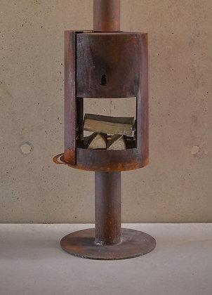 Woodchuck C tuinhaard in cortenstaal windstopper optie