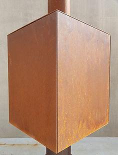 Woodchuck S - dicht zijpaneel in cortenstaal