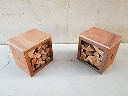 Woodchuck Box - tuinbankjes in cortenstaal en multiplex