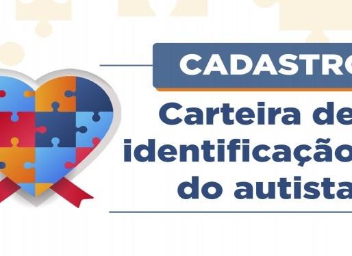 Cadastro para carteira de identificação do autista