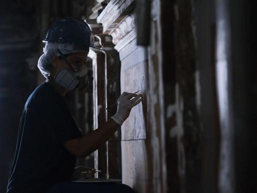 Restauração em igreja de Ouro Preto revela elementos artísticos escondidos