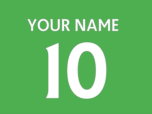 Football Shirt Name and/or Number S7S