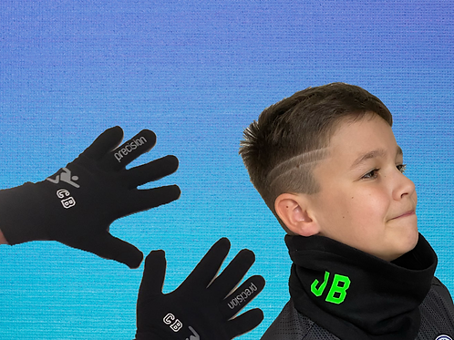 Personalised Player Gloves and Snood Set