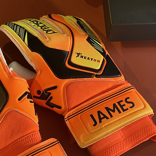 Goalkeeper Gloves Iron on Vinyl Single Name
