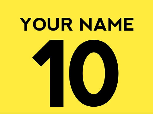 Football Shirt Name and/or Number S6S