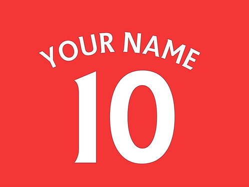Football Shirt Name and/or Number S7 Curved