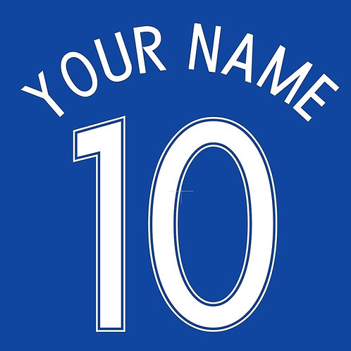 Football Shirt Name and/or Number S2 Curved