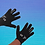 Thumbnail: Outline Font Personalised Precision Player Gloves