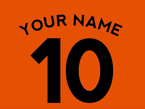 Football Shirt Name and/or Number S6 Curved