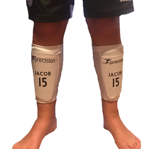 PERSONALISED SHIN PADS SLEEVES WITH PADS