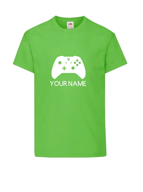 Gamer controller 2 t-shirt  - personalised
