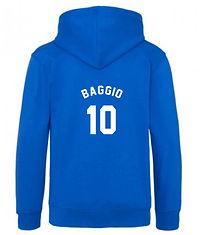 personalised football hoody